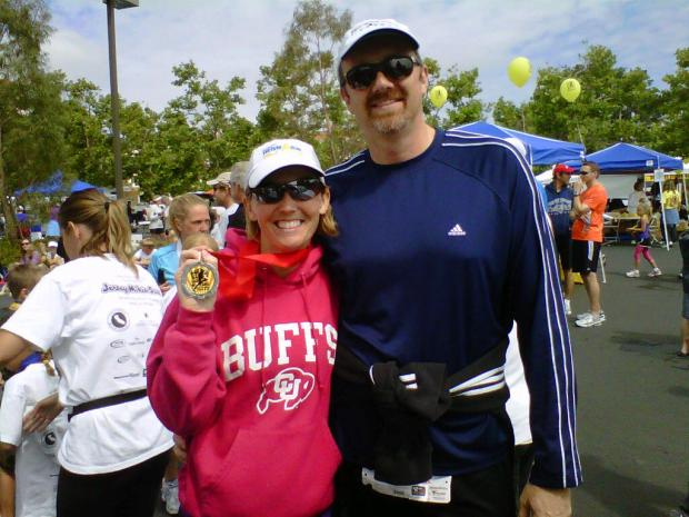 My husband and I after my second place finish in the Love Run 10K