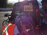 Loading up my bike onto the SAG car
