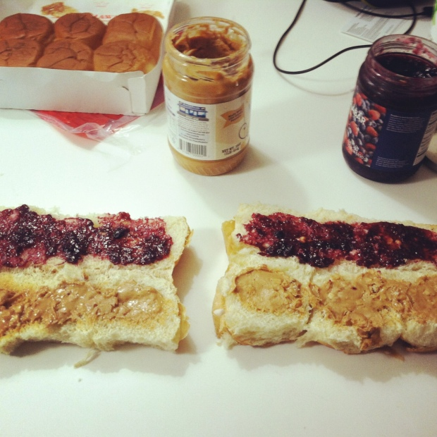 Best riding food! Hawaiian rolls with PB&J