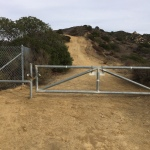 Trail running has its privileges. Fences Schmences!