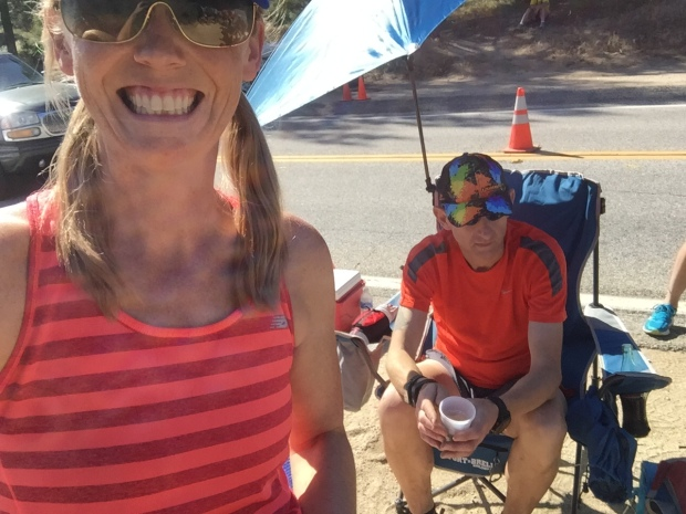 Stuart gets a break at and aid station and I take a selfie! #shocker