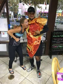 One of the Ambassadors ran the full marathon as a pizza!