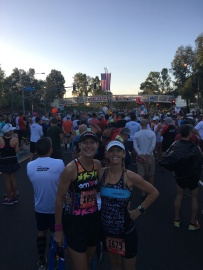 Waiting for the start with Taryn
