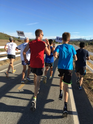 This dad and son ran together the whole way. It was super awesome!